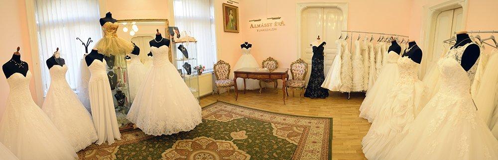 20b14d714c1 Esküvői ruhák - ALMÁSSY ÉVA LUX Esküvői Ruhaszalon Budapest